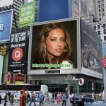 Fotomontaje de pantalla de publicidad en fotoefectos.com