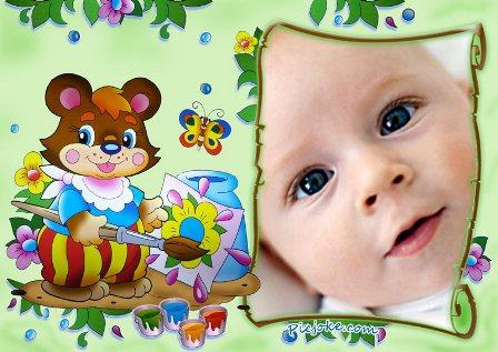 Fotomontaje con osito para bebes y niños, en picjoke podras encontrar ...