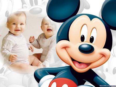 Un fotomontaje con el famoso raton Mickey Mouse, este fotomontaje lo ...
