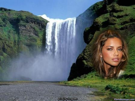 Hermoso fotomontaje paisajístico en una catarata que encontramos en ...