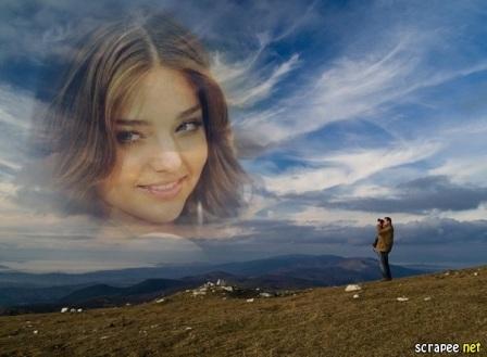 En este fotomontaje puedes colocar tu foto junto a las nubes como se ...