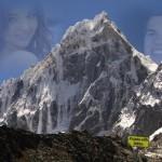 Fotomontaje en montañas