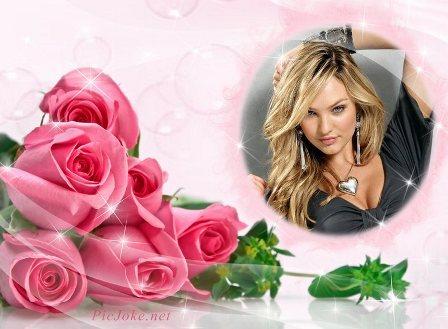 Fotomontaje con rosas @ Fotomontajes Gratis Online