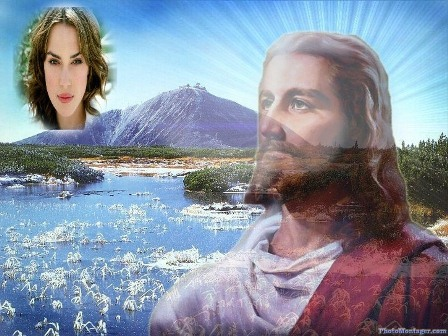 Fotomontaje de Jesús