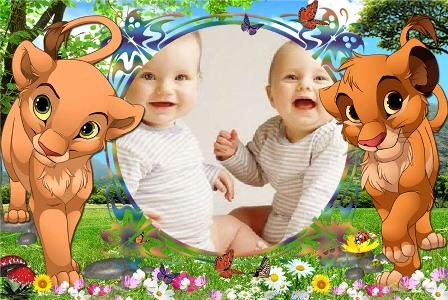 Marco hermoso para niños
