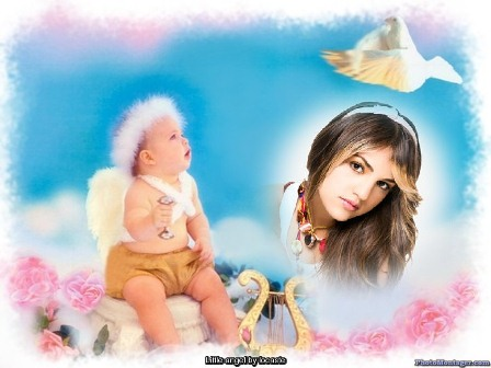 ermoso fotomontaje con angel
