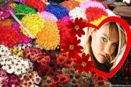 Fotomontaje con lindos detalles florales