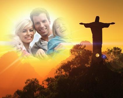 Bonito fotomontaje con Jesús