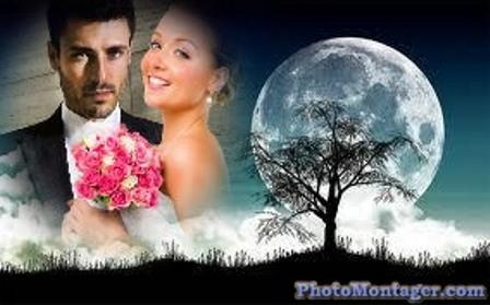 Fotomontajes preciosos con la luna
