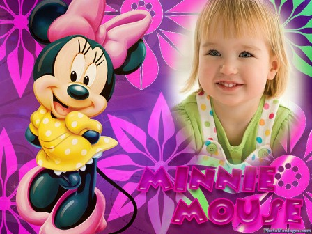 Fotomontaje con Minnie Mouse
