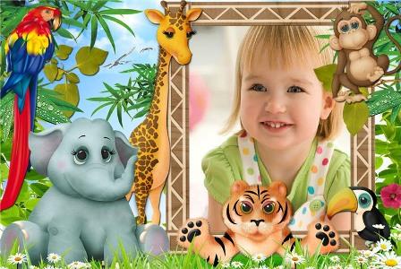 lindo fotomontaje para niños