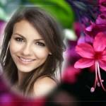 Bellos fotomontajes decorados con flores