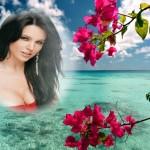 Fotomontajes con flores hermosas