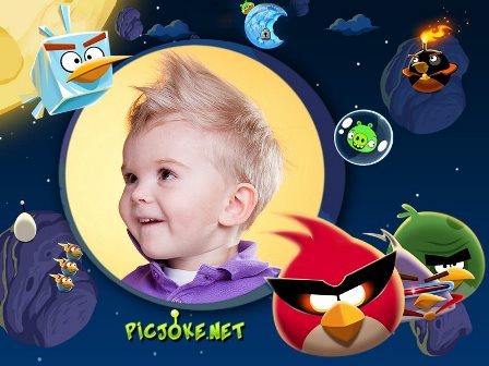 fotomontajes de angry birds space