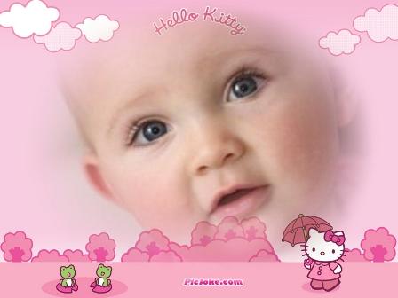 fotomontajes infantiles para bebes hello kitty