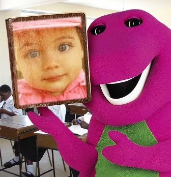 Fotomontajes con Barney