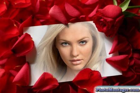 Fotomontajes con petalos de rosas