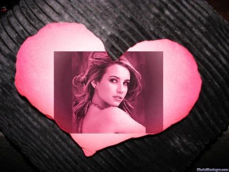 Fotomontajes en un  bello corazón