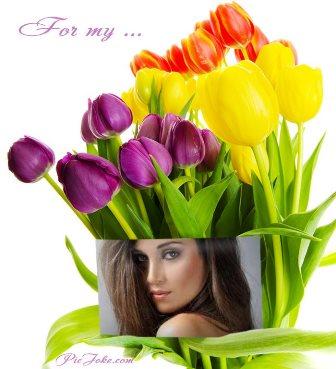 Fotomontajes con hermosos tulipanes