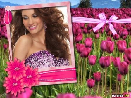 Fotomontajes en un precioso marco con flores