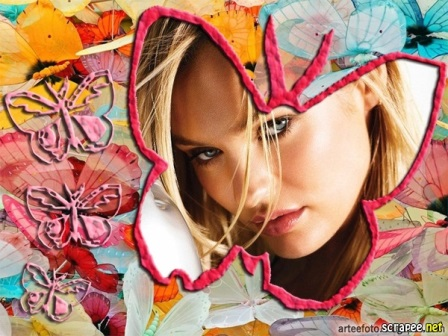 Fotomontajes en una mariposa