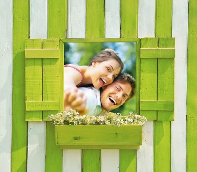 Fotomontajes en una ventana