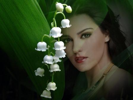 Bonitos fotomontajes con flores
