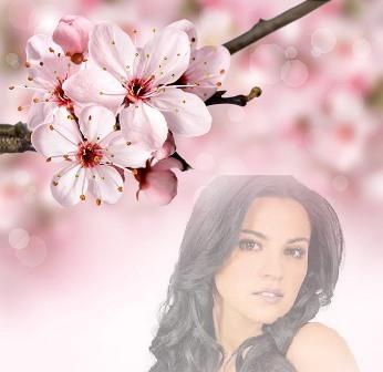Fotomontajes con bonitas y delicadas flores