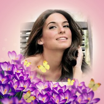 Fotomontajes con flores violeta