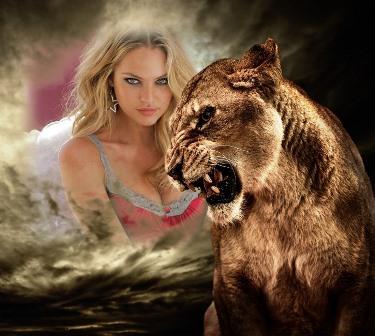 Fotomontajes con una leona