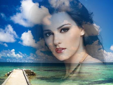 Fotomontajes junto a un precioso mar