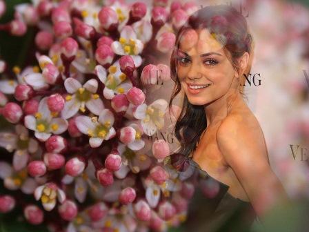 Fotomontajes con hermosas flores