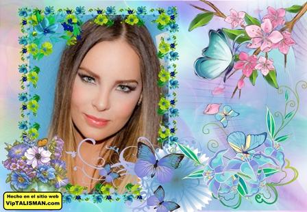 Fotomontajes con lindas mariposas