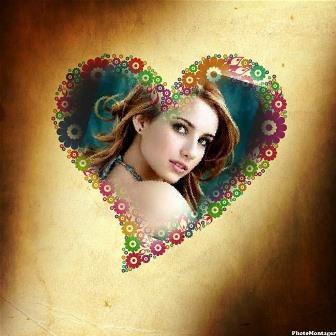 Fotomontajes en un hermoso corazón