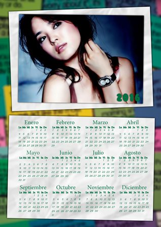 Fotomontaje en calendario 2016