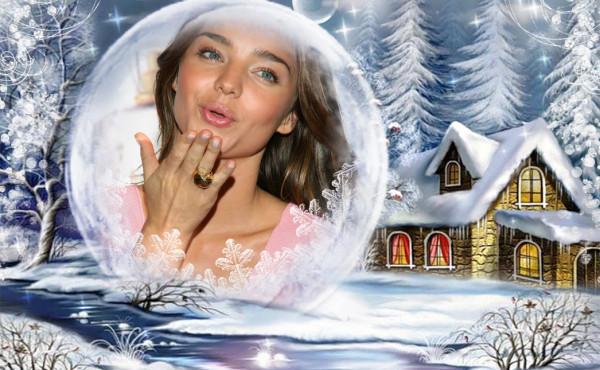 Fotomontajes navideños con nieve